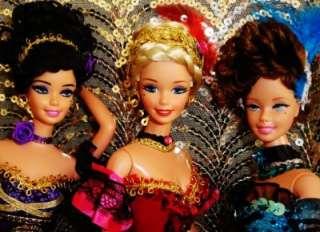Rouge Can Can Dancer set ~ OOAK Barbie doll ~ THREE DOLLS dakotas song