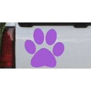Purple 2in X 2in    School Team Paw Print Sports Car Window Wall