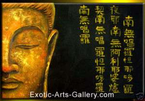 Modern Abstract Oil Paintings on Canvas Buddha Painting