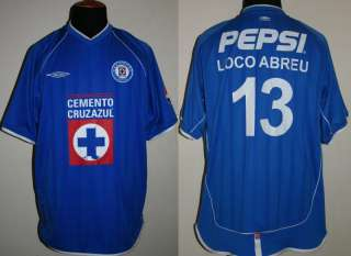 LOCO ABREU CRUZ AZUL MEXICO MATCH WORN SHIRT 02 JERSEY