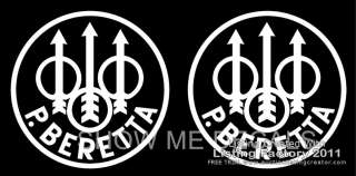 Beretta Logo 5 Vinyl Decals (Set of 2)