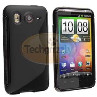 For HTC Inspire 4G White+Black TPU Case Cover+Privacy Guard New
