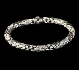 Mappin & Webb Chimento 18k White Gold Stretch Rope Bracelet