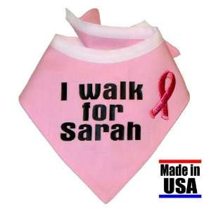 Pink Ribbon I Walk For. in Scout Style, Size Medium