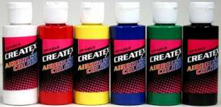 AIRBRUSH PAINT COLORS ~OPAQUE PRIMARY SET w/ FREE COLOR CHART!