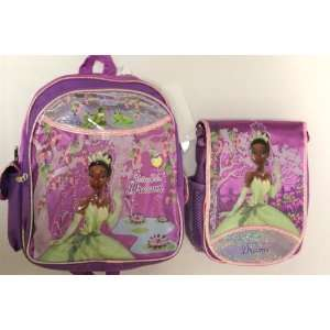 Princess and the Frog Medium Backpack + Lunch Bag SET