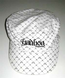 BAD BOY CAP/HAT WHITE and BLACK   SIZE 12 16/NEVER WORN |