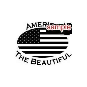 PATRIOTS AMERICA THE BEAUTIFUL 10 WHITE VINYL DECAL