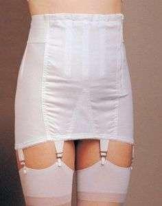 Plus Size Open Girdle 6 garters Boned NEW Old Stock