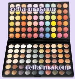120 Warm Metal Neutral Shimmer Eyeshadow Palette 9 pc brush set Combo