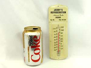 Vintage REFRIGERATION Thermometer Metal Advertise Sign   FREE SHIP