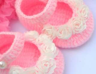 pink Mary Jane Newborn baby girl reborn doll booties