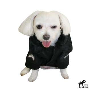 Little Barkers Royal Air Force Jacket Dog Coat Brown Faux Fur Collar