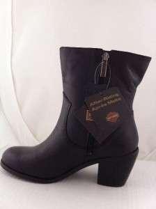 NEW WOMENS HARLEY DAVIDSON ALANIS ZIPPER BLACK BOOTS 10 Medium 84439