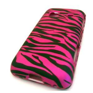 Samsung Galaxy M828c Precedent Pink Zebra Rubberized Texture Cover