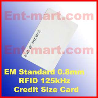 100pcs RFID 125Khz Proximity ID Cards 0.8mm Credit Card