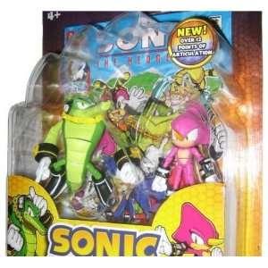 Hedgehog Vector and Espio Figure Set w Comic Book 65075 Toys & Games