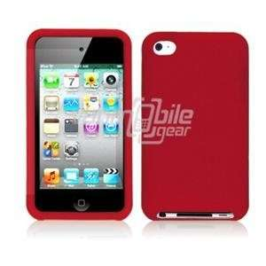 VMG Apple iPod Touch 4 4th Generation Skin Case Cover   Red Premium 1
