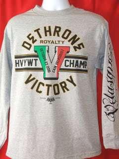 CAIN VELASQUEZ Dethrone Royalty VICTORY Gray T shirt