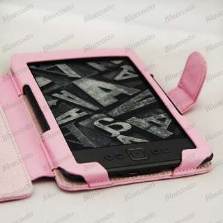 PINK PU Leather Case Cover for  Kindle 4 4th No keyboard Mini