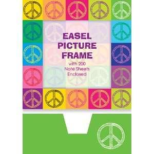 Graphique de France Peace Pop Art Desk Frame and Memo Holder, 4.25 x 4