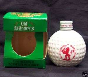 OLD ST ANDREWS GOLF BALL MINIATURE DECANTER W/BOX