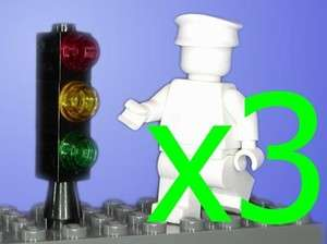 New Lego Black Stop Lights / Traffic Signals for City Town Cars