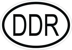 DDR GERMANY COUNTRY CODE OVAL STICKER bumper decal CAR