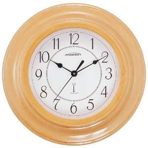 Atomix 00571 11 1/4 Atomic Clock (Natural Wood Finish