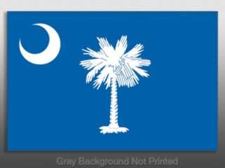 South Carolina State Flag Sticker   decal bumper SC USA