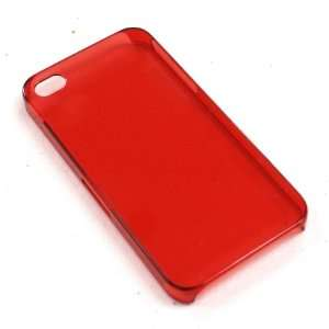 APPLE IPHONE 4S PROTECTOR CASE ULTRA THIN TRANSPARENT RED