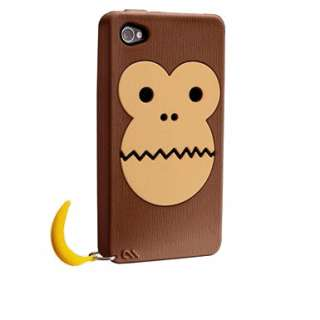 (Monkey) Silicone Case APPLE iPhone 4/4S (Brown) CM016353