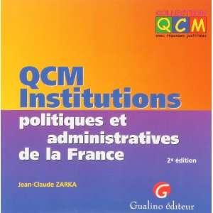 administratives de la france (9782842006433): Jean Claude Zarka: Books