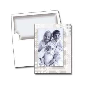 NRN SILVER WHITE STAR Photo Cards   6 x 8   100 Cards