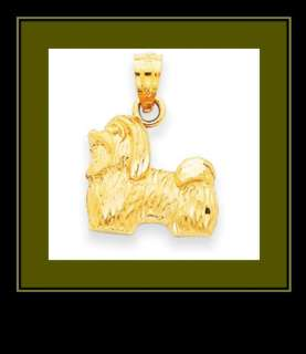 NEW 14K Yellow Gold Shih Tzu Dog Pendant/Charm