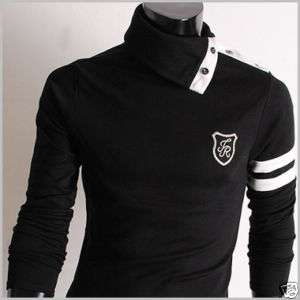 Mens casual slim fit new design turtle neck T shirts
