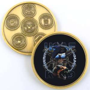 FORCE SECURITY TEAM K 9 PHOTO CHALLENGE COIN YP461: Everything Else