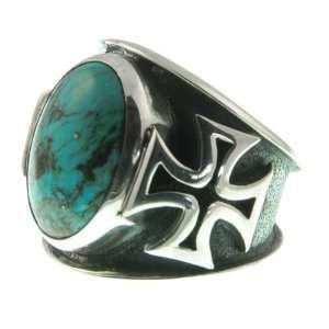 320 12 Maltese Cross Ring Organic / Silver Jewelry of Bali Jewelry