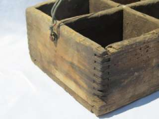 Primitive Wood Tool Box Chest Tray Gardener Carrier Old Country Farm