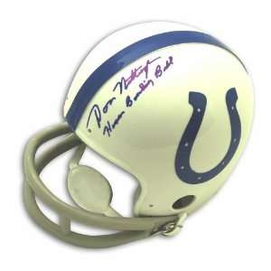 Don Nottingham Autographed Baltimore Colts Mini Helmet inscribed Human