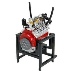 Mini Ford V 8 460 Flat head Engine (124, Red) Toys & Games