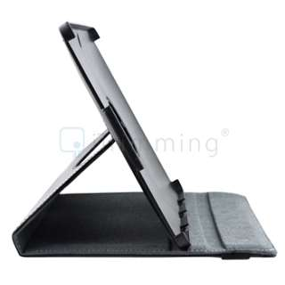 360 Black Leather Case Stand Cover For Asus Eee Pad Transformer