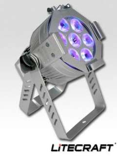 LITECRAFT LED Mini PAR AT3 7x3W SILBER