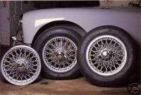 Wire Wheels Austin Healey 3000 , MGA , Lotus Elite Triumph TR3 TR4