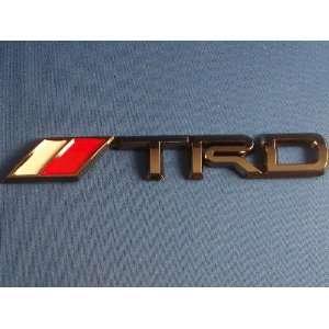 TRD Black Chrome Trunk 3D Emblem Automotive