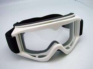 Adult Motocross Dirt Bike ATV MX Off Road Goggles White