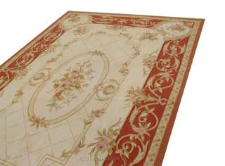 Handmade Vintage Style Country French Home Rose Aubusson Area Rug
