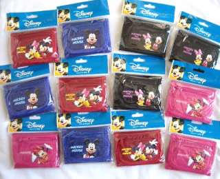 12 pc Disney Mickey Minnie Tri Fold Wallet Party Favor