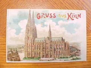 German HTL Hold To Light Postcard. Gruss Aus Koln