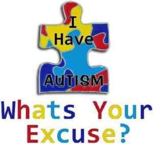 Whats Your Excuse? Autism Puzzle T shirt ALL Sizes